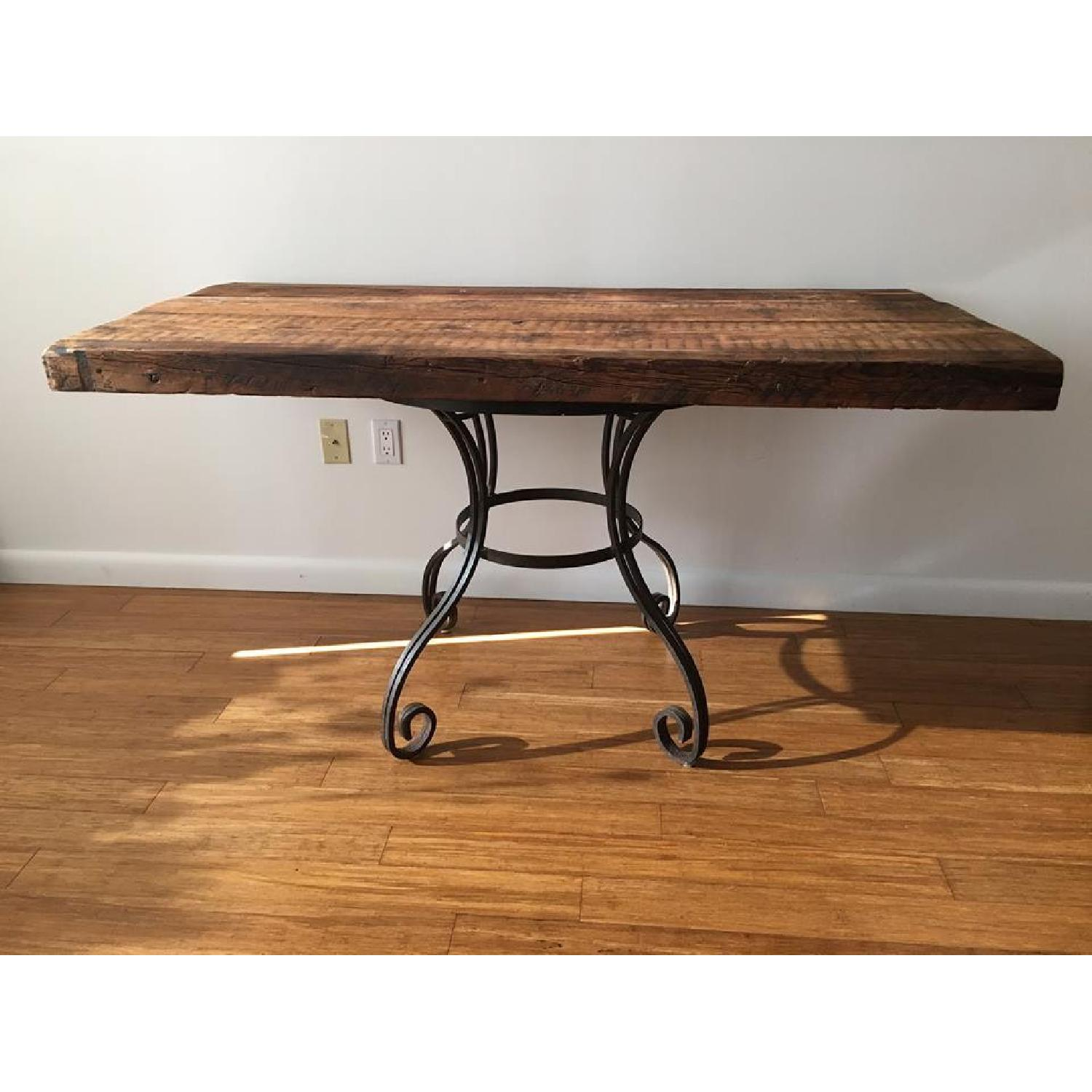 Rustic Dining Table w/ 1 Bench - image-2