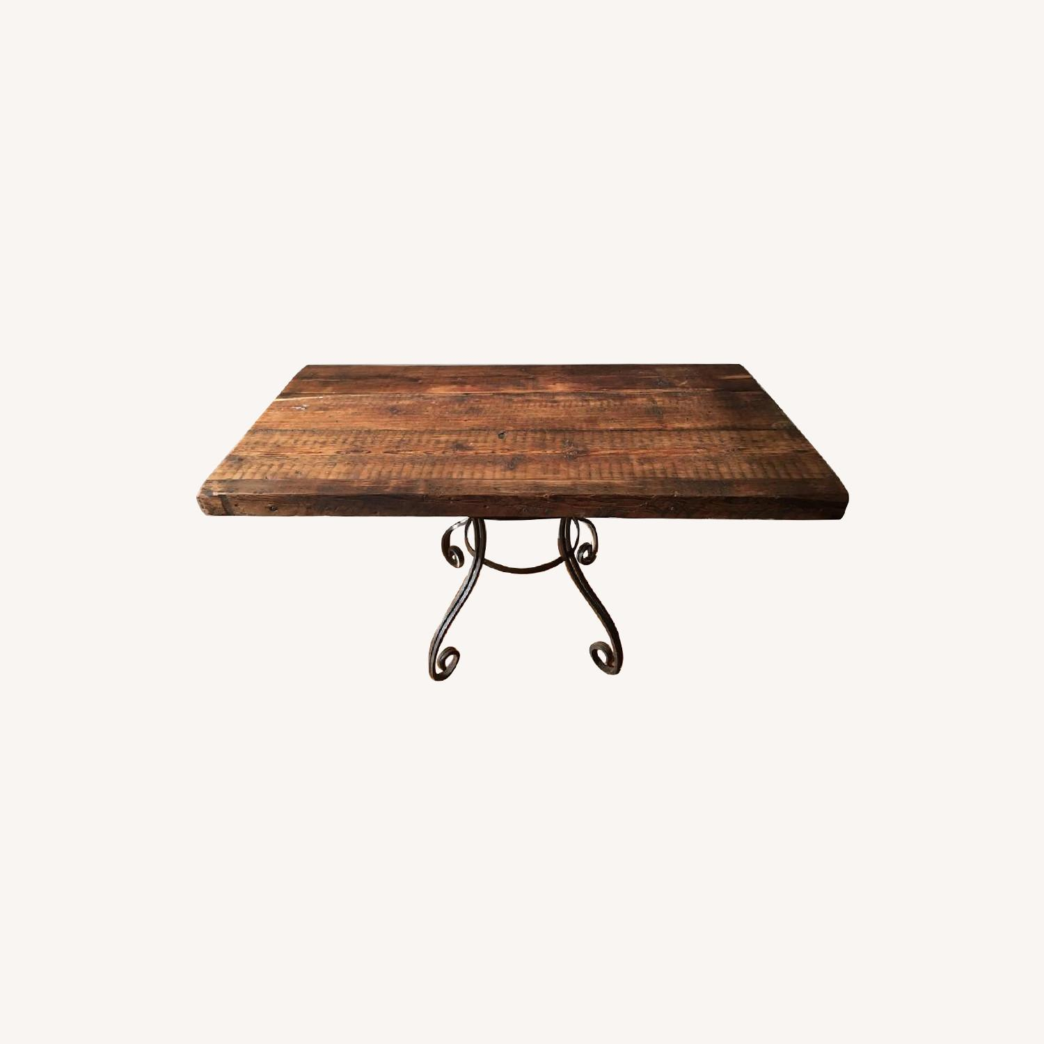 Rustic Dining Table w/ 1 Bench - image-0