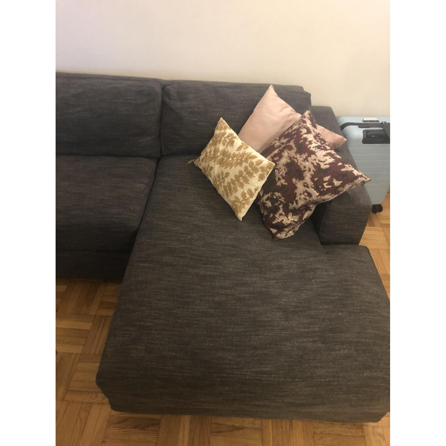 West Elm Urban 2 Piece Large Sectional in Heathered Tweed - image-3