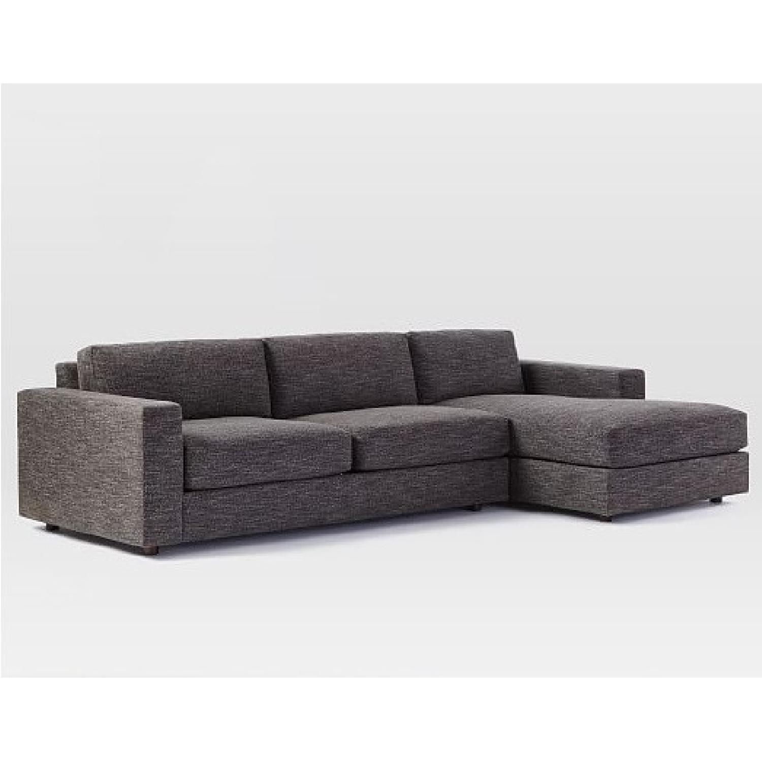 West Elm Urban 2 Piece Large Sectional in Heathered Tweed - image-5