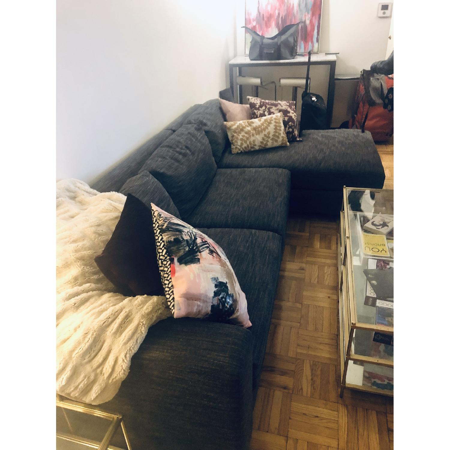 West Elm Urban 2 Piece Large Sectional in Heathered Tweed - image-6