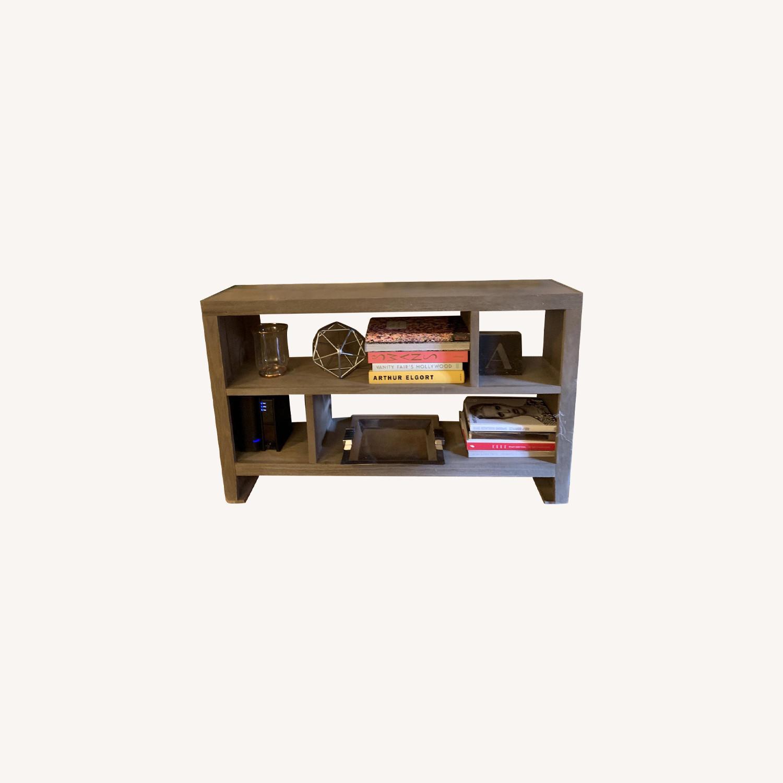 Grey Console/Bookshelf - image-0