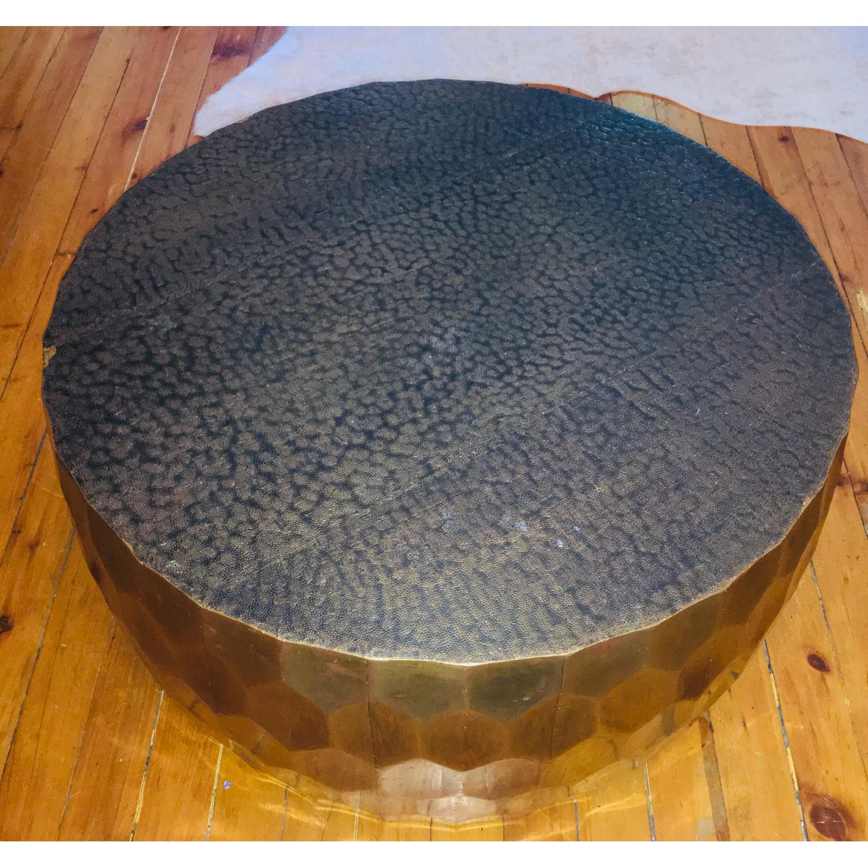 Pottery Barn Vince Metal-Clad Coffee Table - image-2