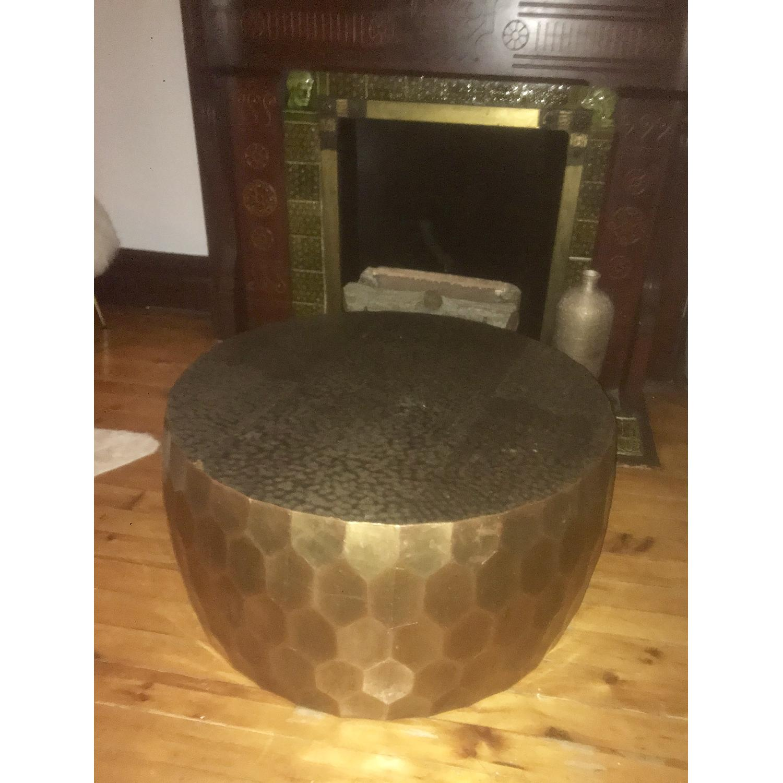 Pottery Barn Vince Metal-Clad Coffee Table - image-3