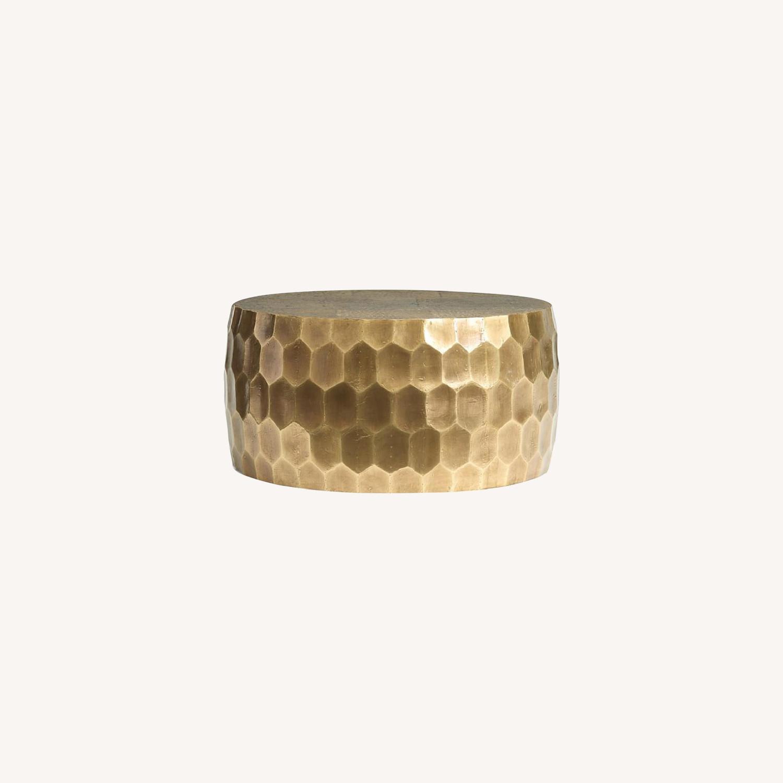 Pottery Barn Vince Metal-Clad Coffee Table - image-5