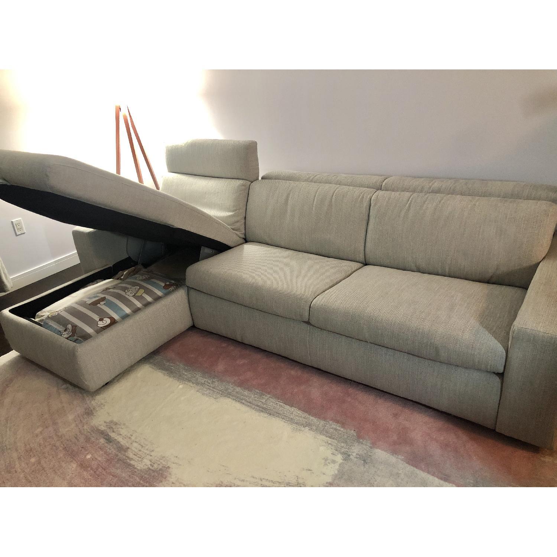 West Elm Enzo Full Sleeper Sectional Sofa w/ Storage - image-2