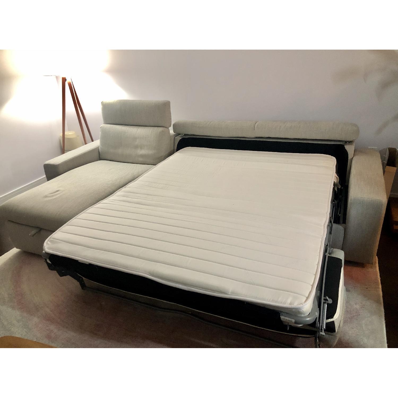 West Elm Enzo Full Sleeper Sectional Sofa w/ Storage - image-3