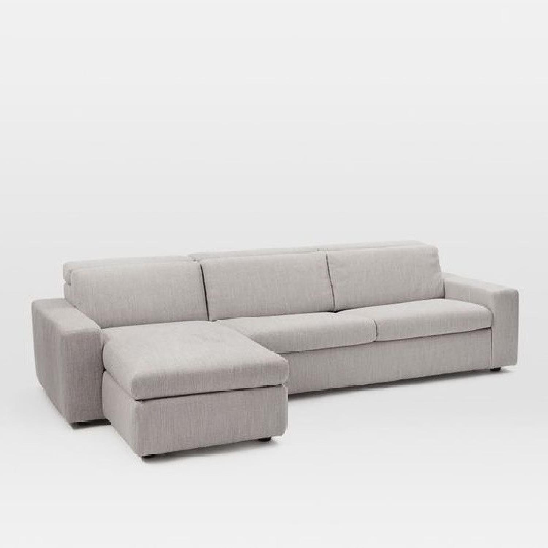 West Elm Enzo Full Sleeper Sectional Sofa w/ Storage - image-4