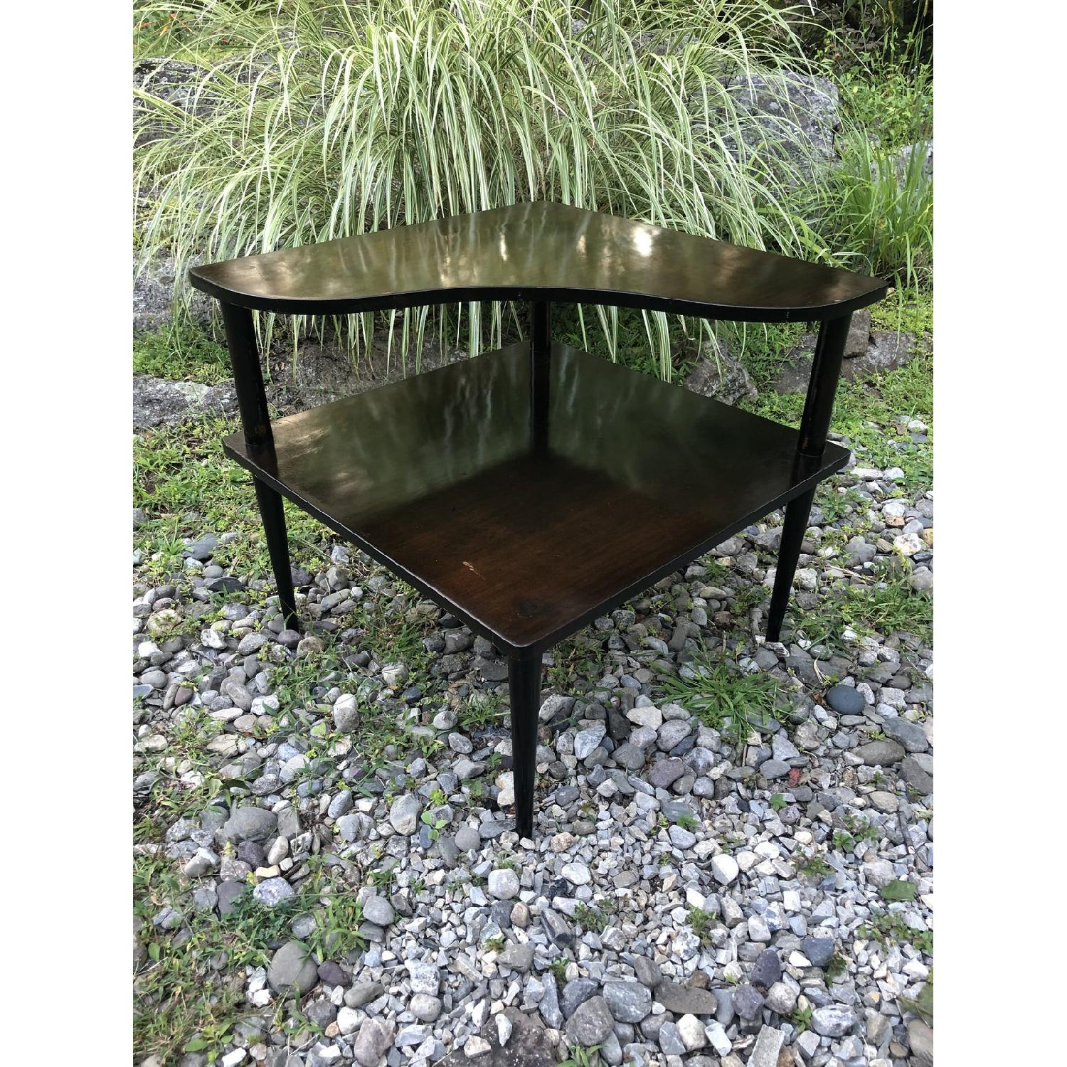 Mid Century Double Tier Side Corner Table - image-1