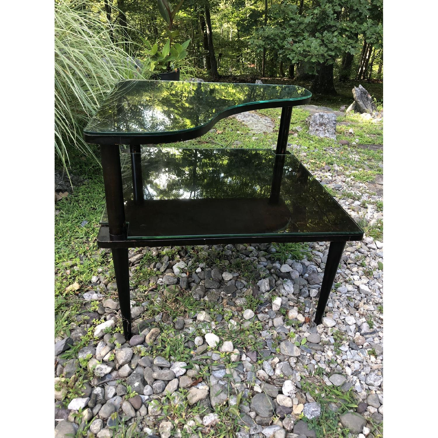 Mid Century Double Tier Side Corner Table - image-6