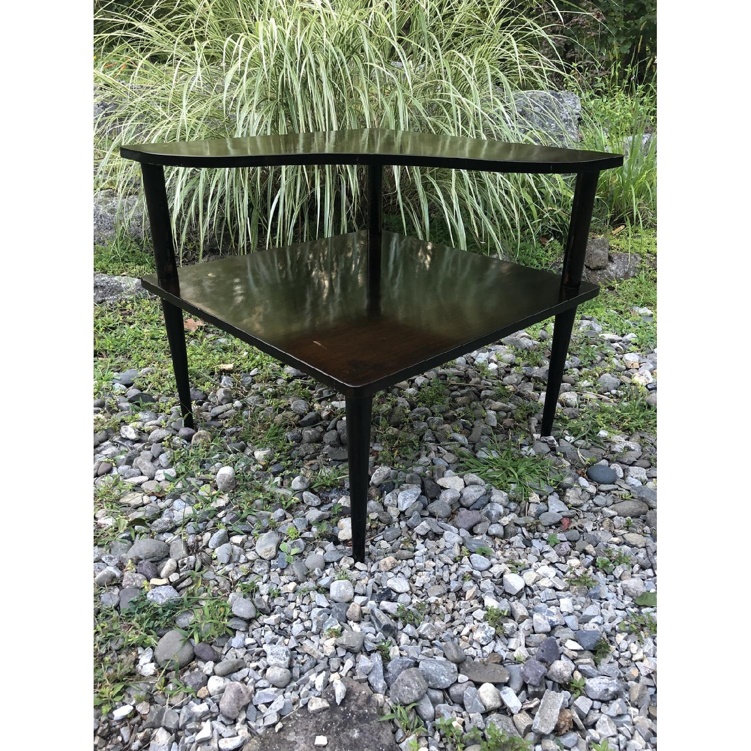 Mid Century Double Tier Side Corner Table - image-7