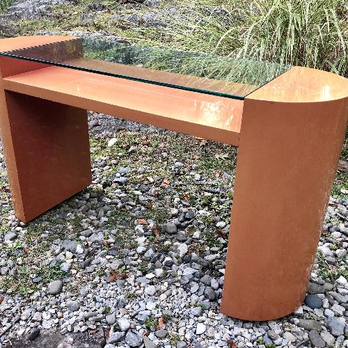 Used Vintage Boho Deco 80's Lacquer Console Table for sale on AptDeco