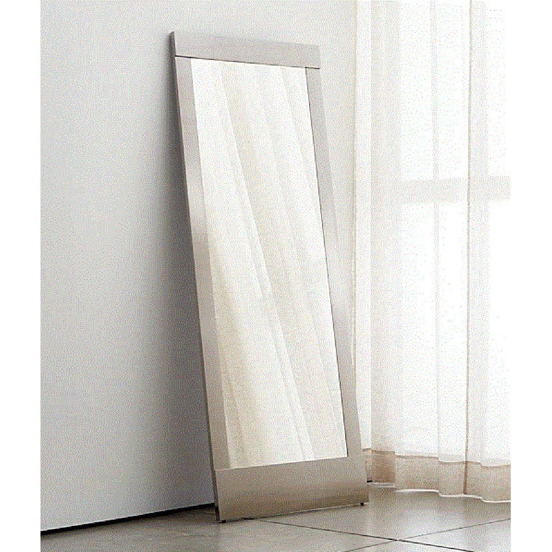 West Elm Colby Nickel Floor Mirror - image-1