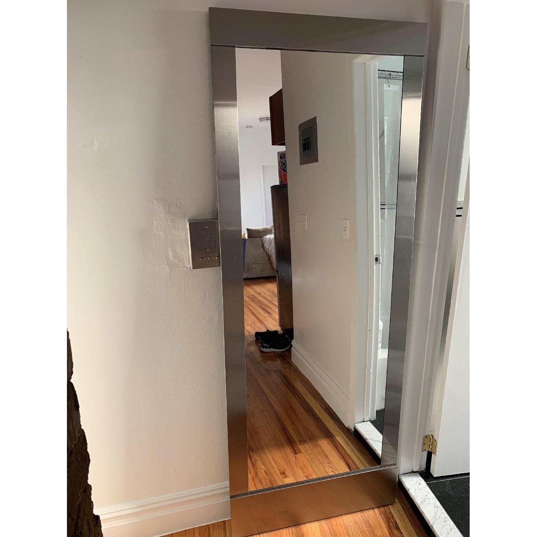 West Elm Colby Nickel Floor Mirror - image-2