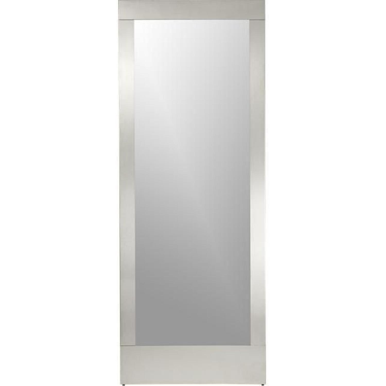 West Elm Colby Nickel Floor Mirror - image-0
