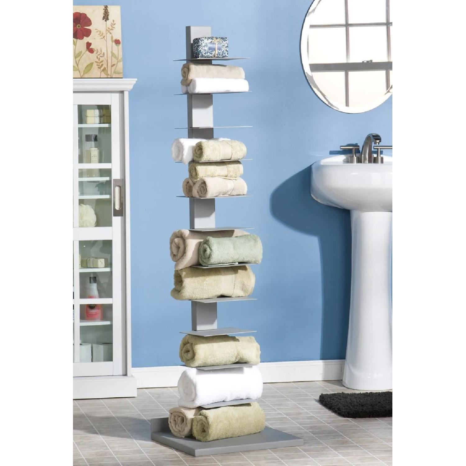 Southern Enterprises Spine Tower Metal Bookcases - image-3
