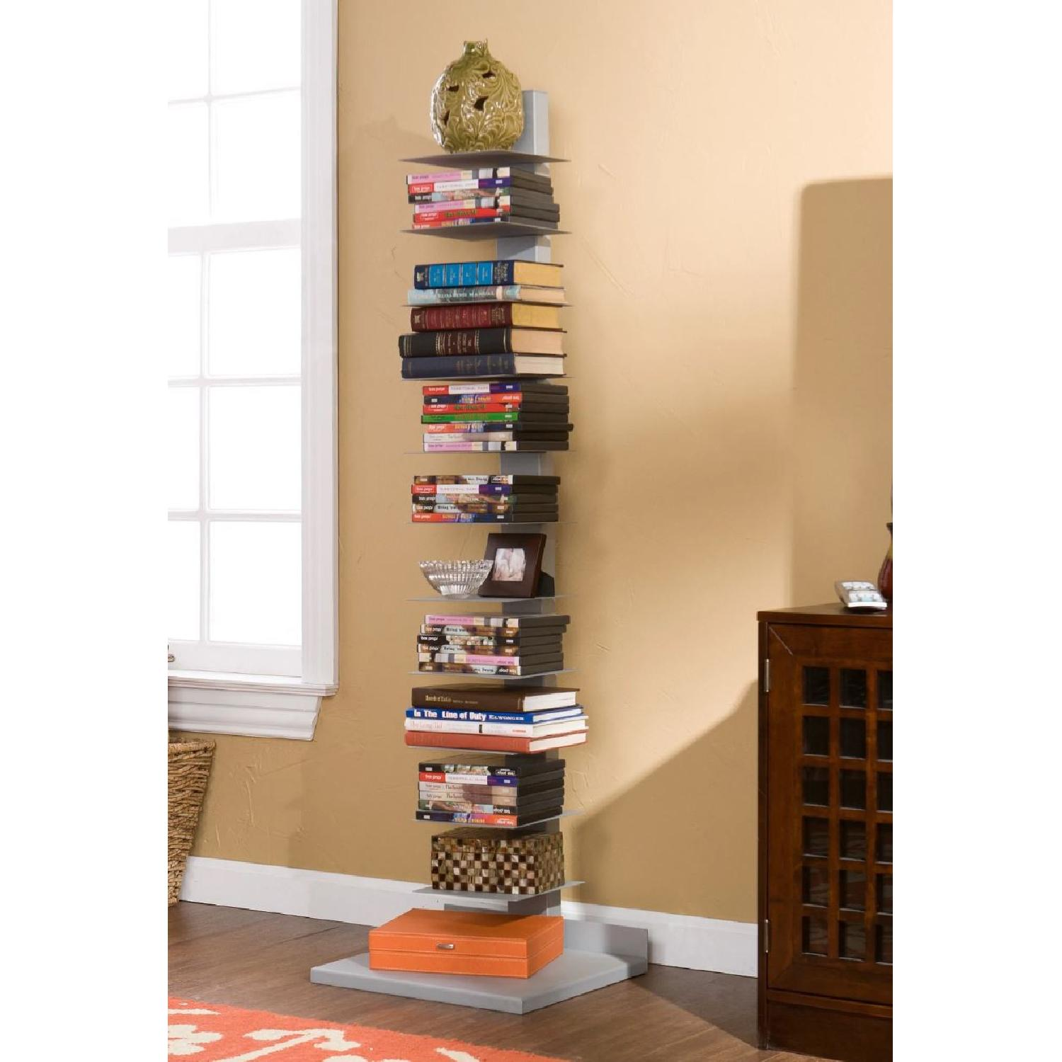 Southern Enterprises Spine Tower Metal Bookcases - image-4