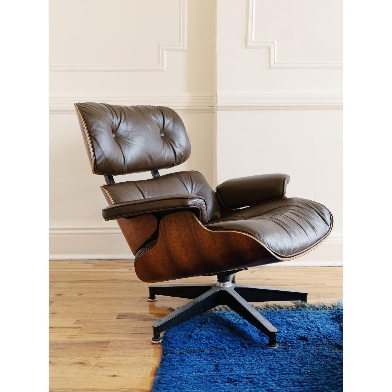 Herman Miller 1981 Vintage Eames Lounge Chair & Ottoman - image-8
