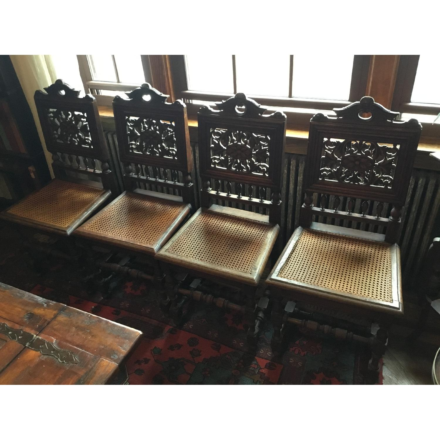 Antique French Oak Chairs - image-1