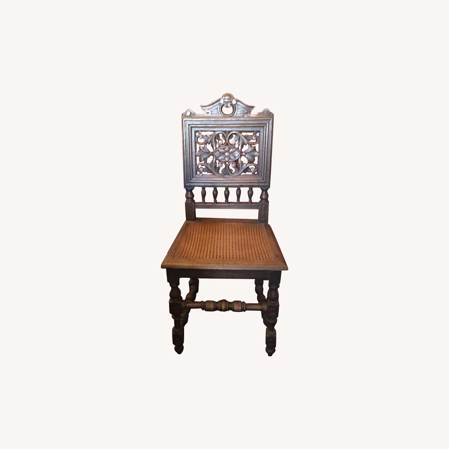 Antique French Oak Chairs - image-0