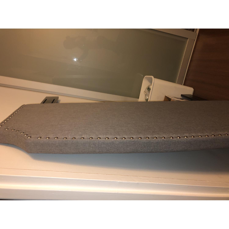 Charlton Home Grey Upholstered Headboard - image-3