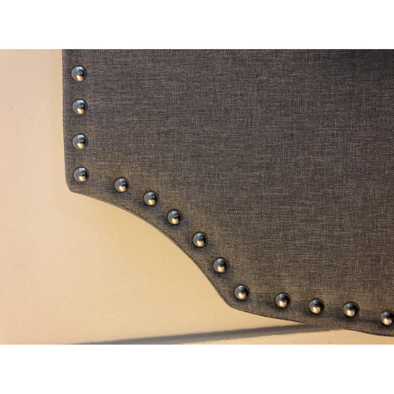 Charlton Home Grey Upholstered Headboard - image-4