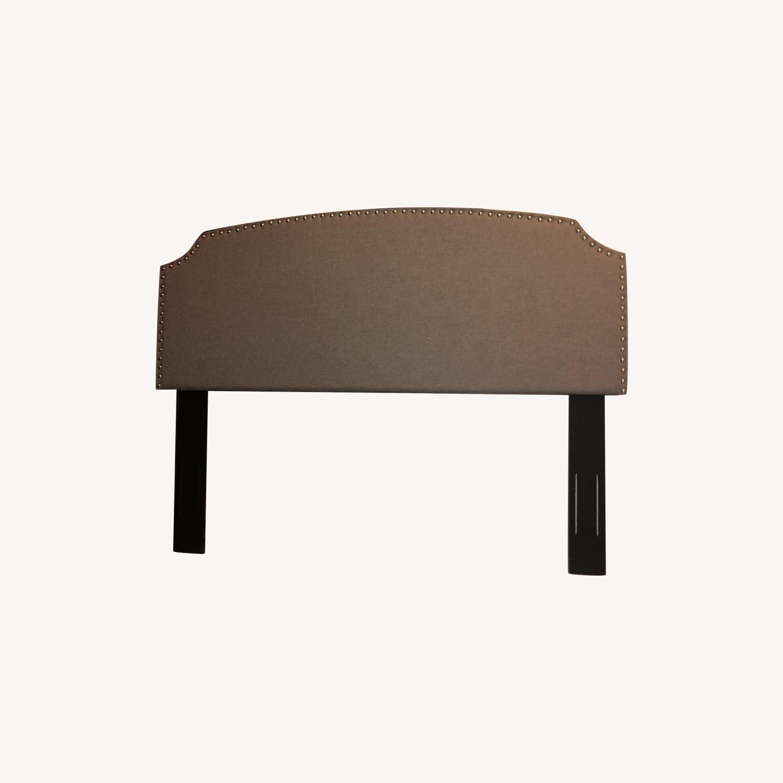 Charlton Home Grey Upholstered Headboard - image-0