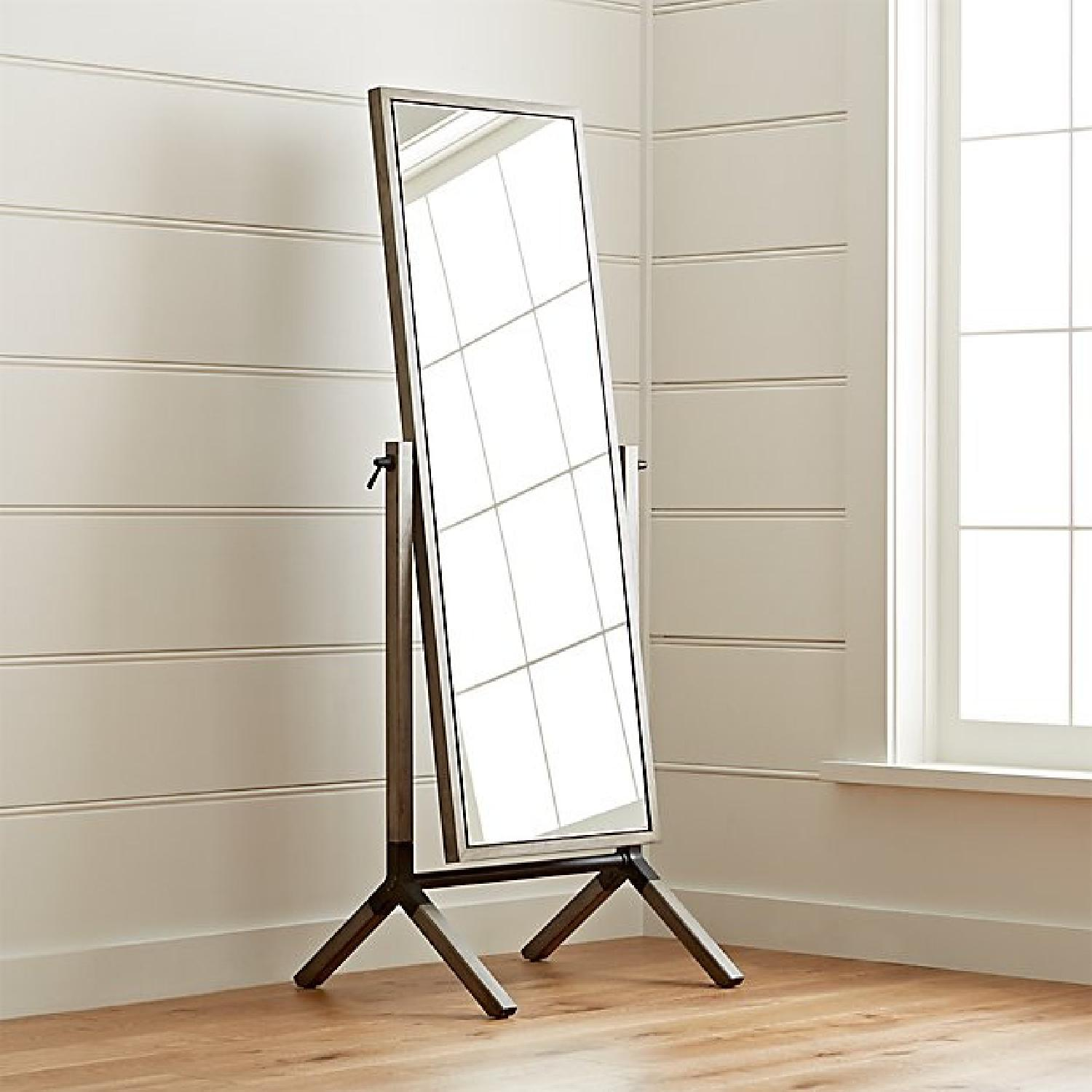 Crate & Barrel Malvern Grey Cheval Floor Mirror - image-3