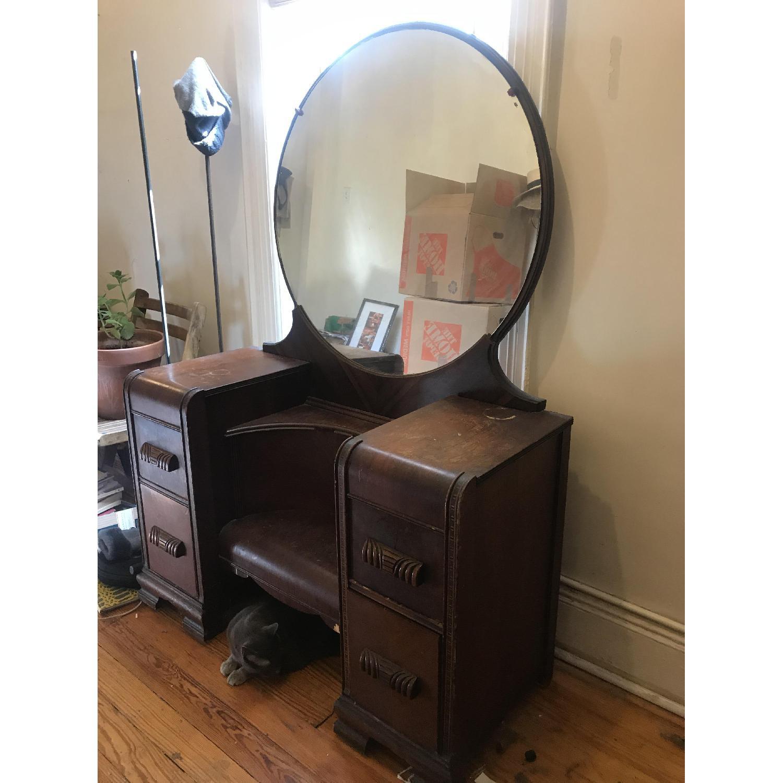Vintage Art Deco Vanity - image-1