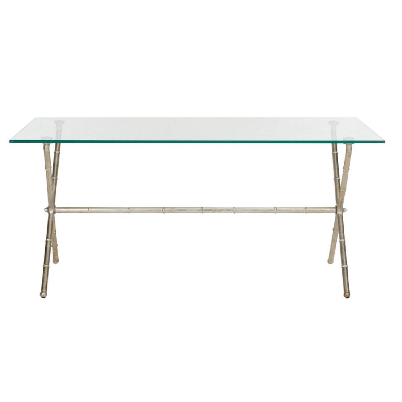One Kings Lane Pratt Modern Coffee Table in Silver - image-0