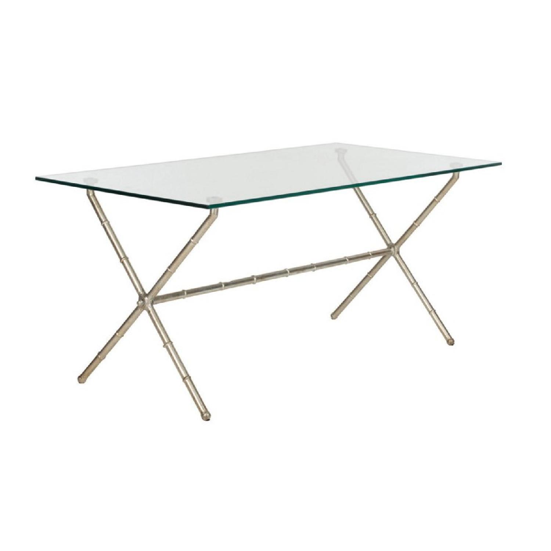 One Kings Lane Pratt Modern Coffee Table in Silver - image-1