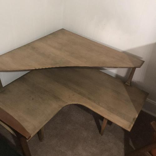 Heywood Wakefield Wood Corner Table