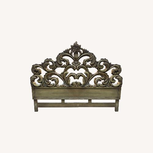 Used Vintage French Style Solid Wood King Size Headband for sale on AptDeco