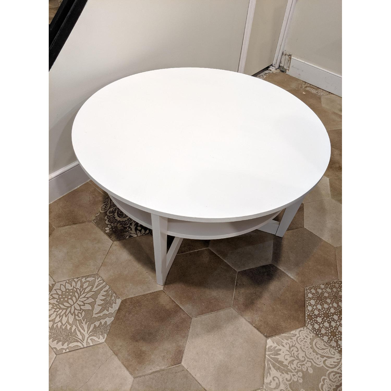 Ikea Vejmon White Coffee Table - image-1