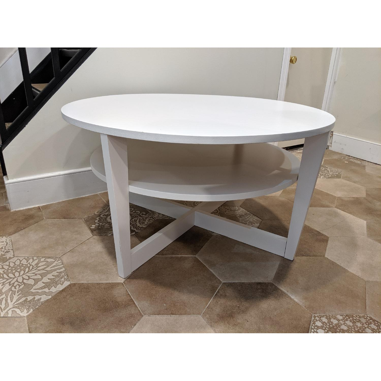 Ikea Vejmon White Coffee Table - image-3