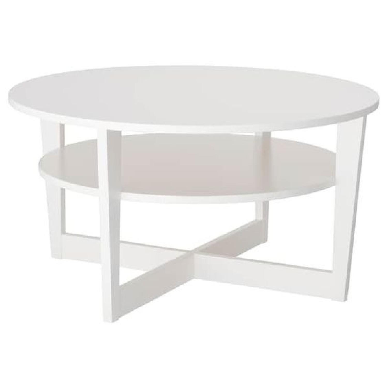 Ikea Vejmon White Coffee Table - image-0