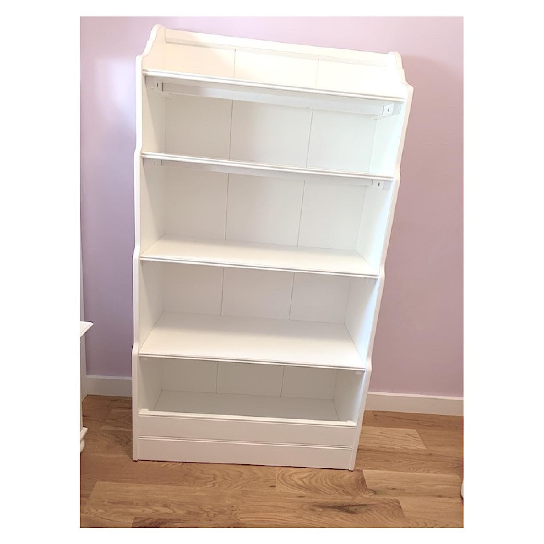 Land of Nod Tall Cottage White Kids Bookcase - image-2