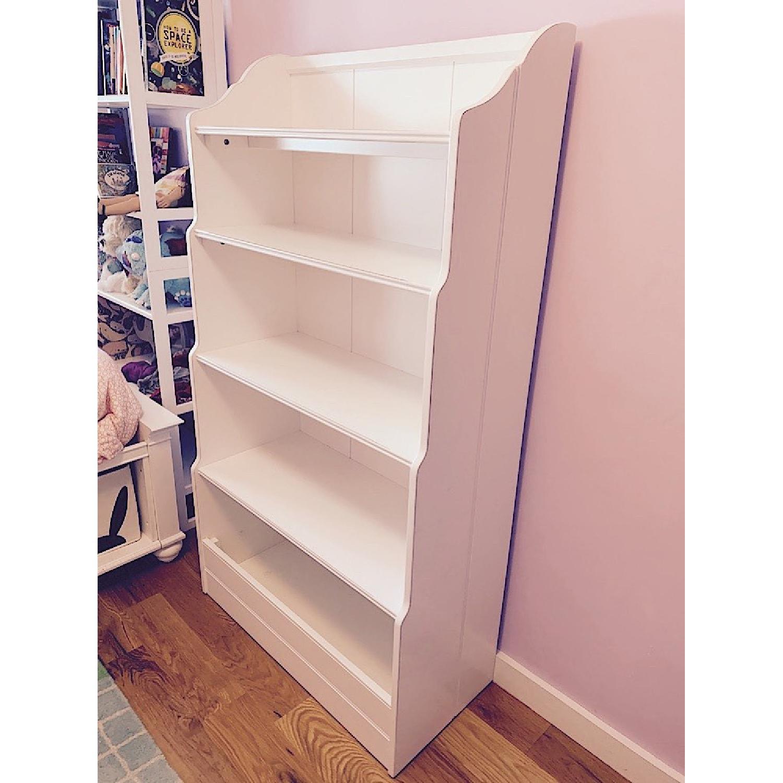 Land of Nod Tall Cottage White Kids Bookcase - image-4
