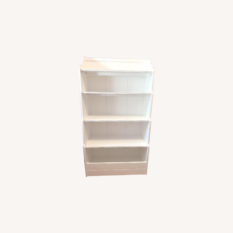 Land of Nod Tall Cottage White Kids Bookcase - image-0