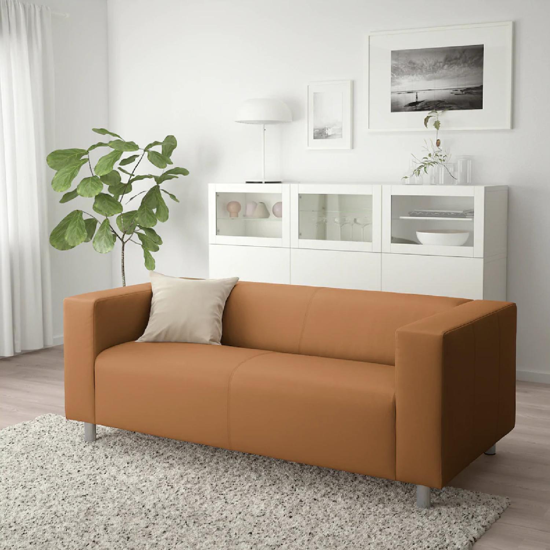 Ikea Klippan Leather Loveseat - image-1