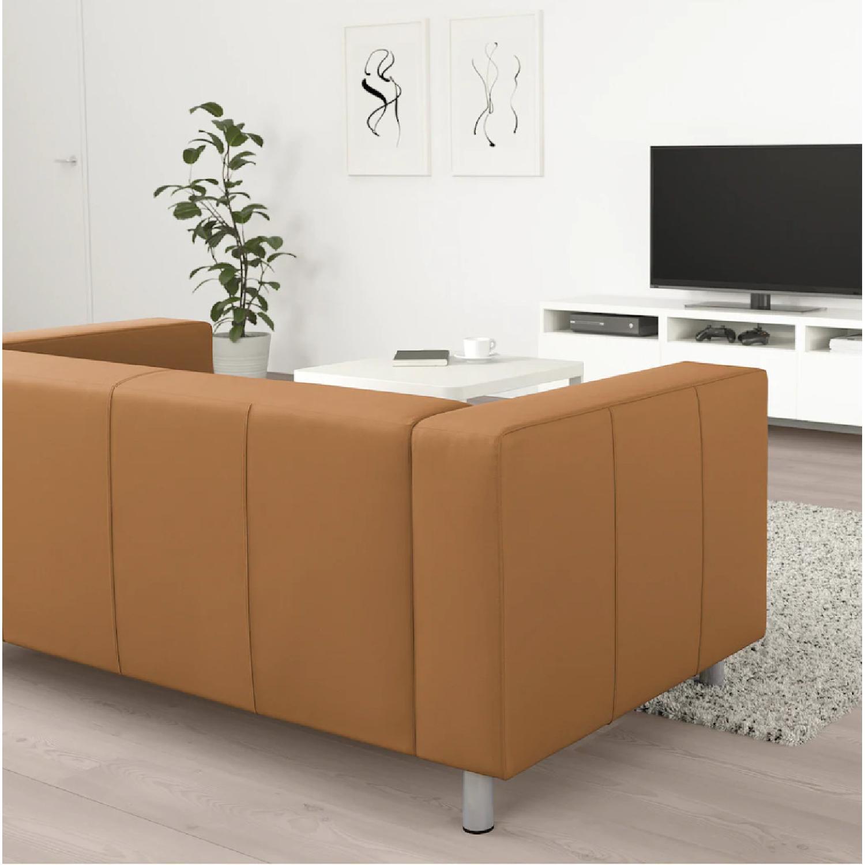 Ikea Klippan Leather Loveseat - image-2