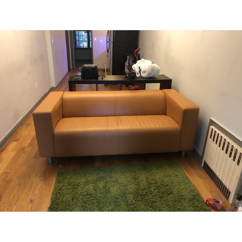 Ikea Klippan Leather Loveseat - image-4