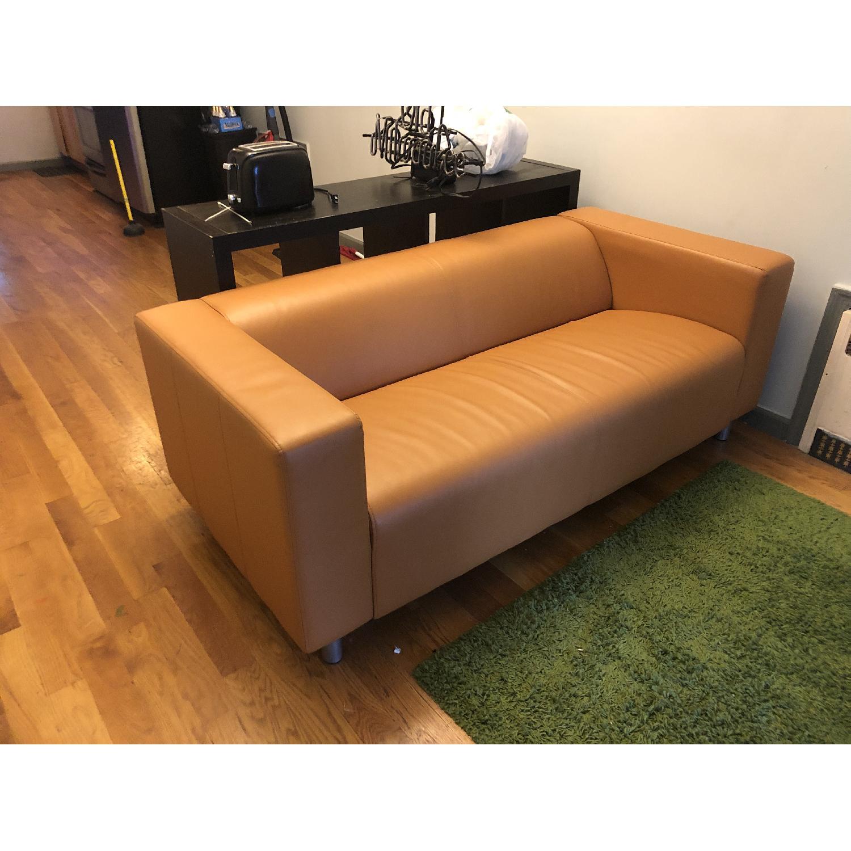 Ikea Klippan Leather Loveseat - image-5