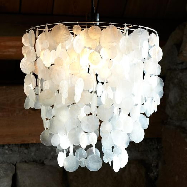 West Elm Capiz Plug-in Ceiling Light - image-6