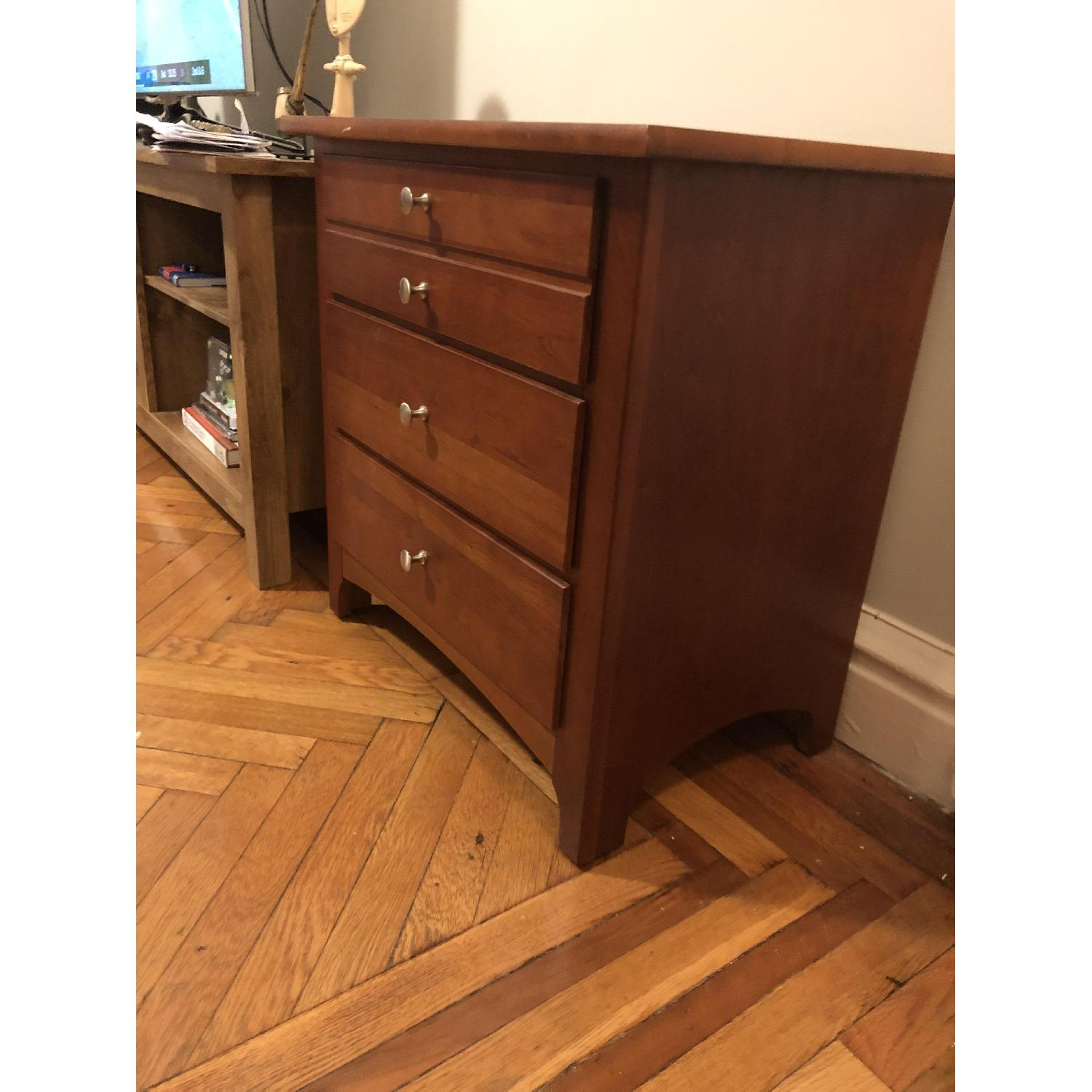 Large Multi-Drawer Cherrywood Nightstand - image-3