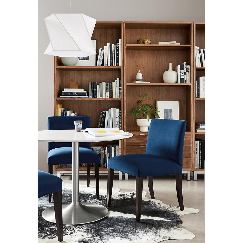 Room & Board Indigo/Dark Blue Velvet Dining Accent Chairs - image-1