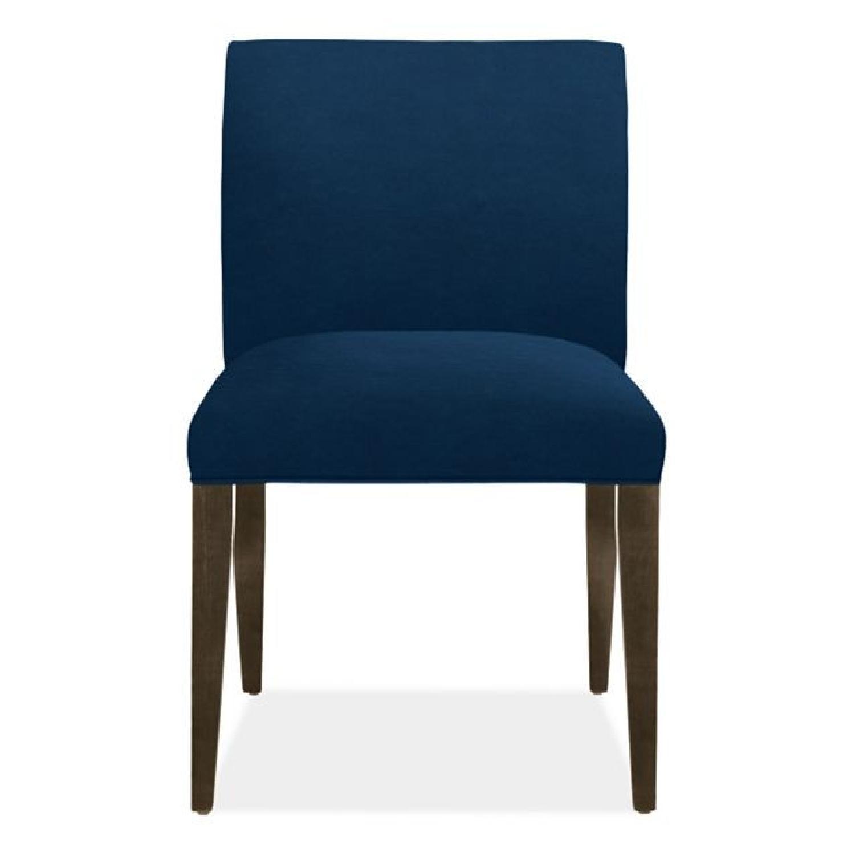Room & Board Indigo/Dark Blue Velvet Dining Accent Chairs - image-0