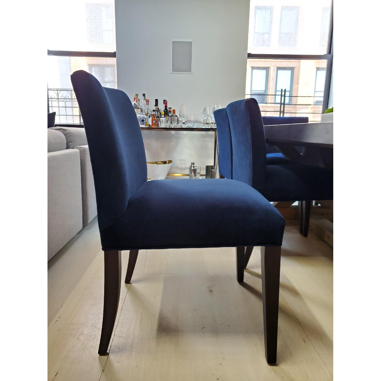 Room & Board Indigo/Dark Blue Velvet Dining Accent Chairs - image-2