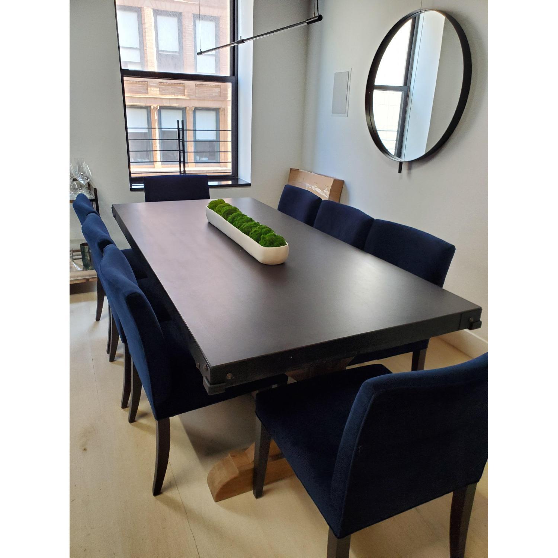 Room & Board Indigo/Dark Blue Velvet Dining Accent Chairs - image-3