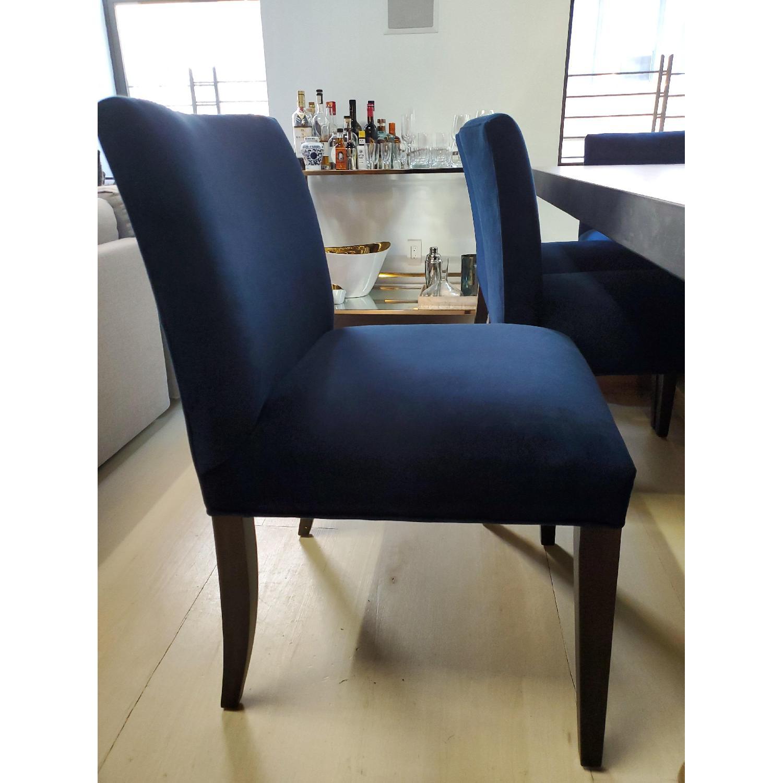 Room & Board Indigo/Dark Blue Velvet Dining Accent Chairs - image-5